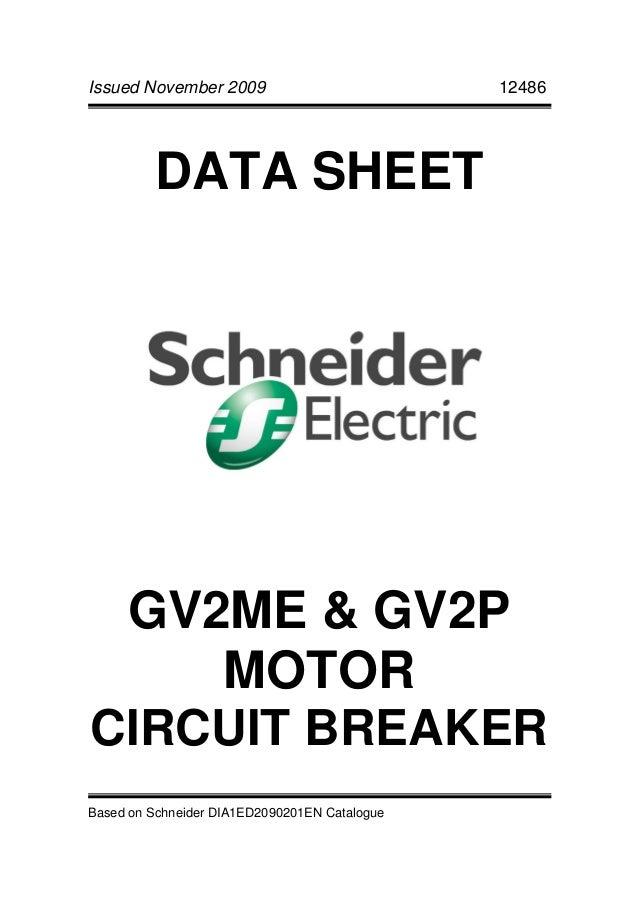 schneider gv2 motor circuit breaker