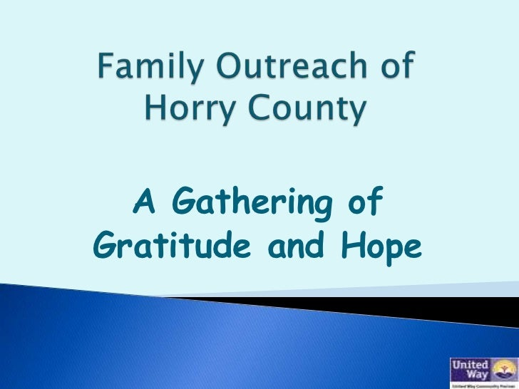 A Gathering ofGratitude and Hope