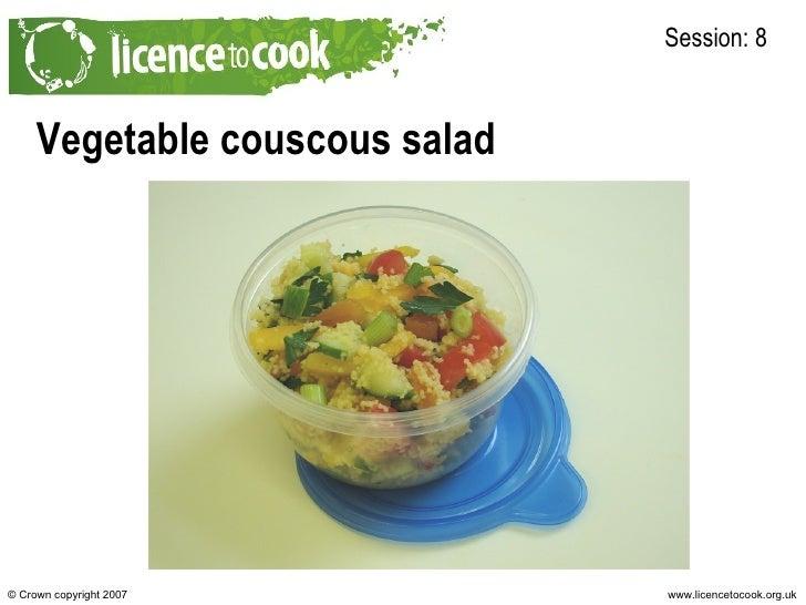 Vegetable couscous salad Session: 8