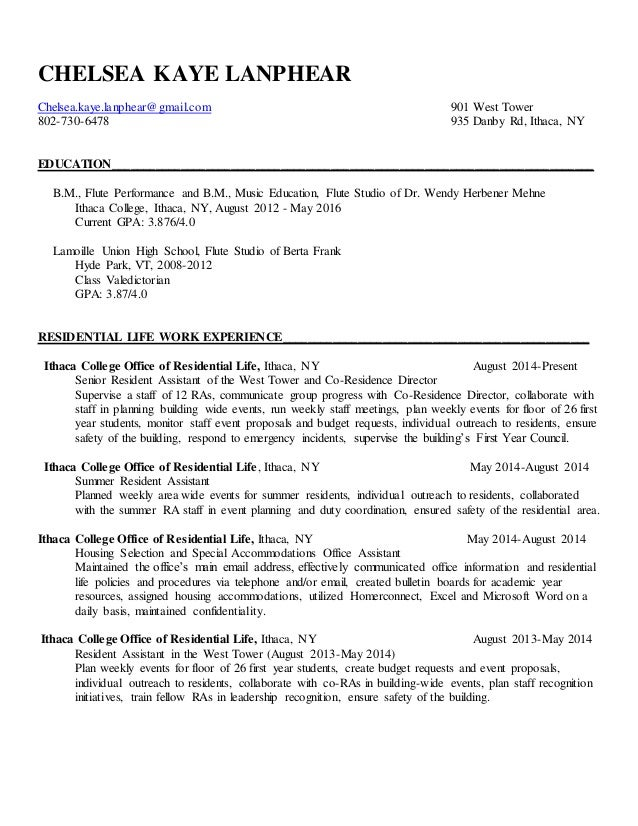resume writing example
