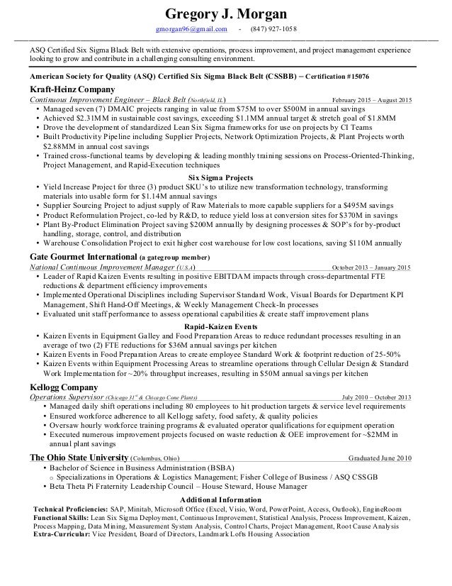 Statistical consultant sample resume