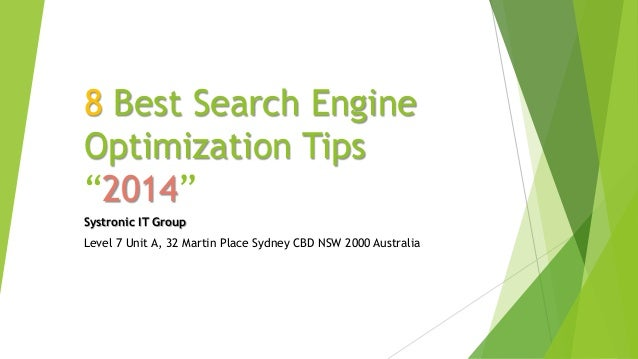 8 Best Search Engine Optimization Tips