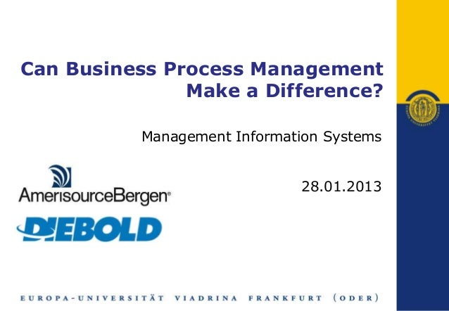 Can business process management make a difference case study