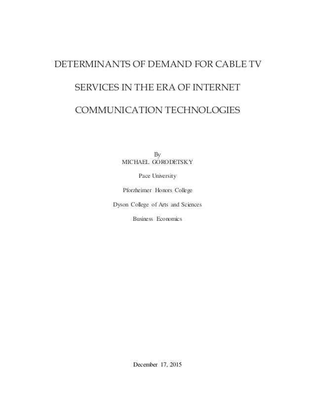 Internet thesis