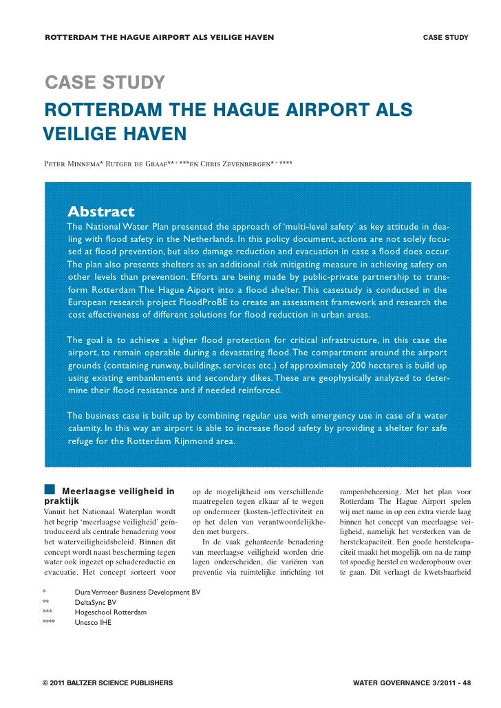 8. Case Study Rotterdam The Hague Airport Als Veilige Haven
