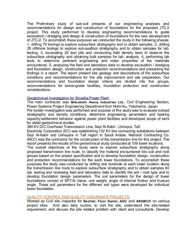 resume senior geotechnical material natm tunnel engineer