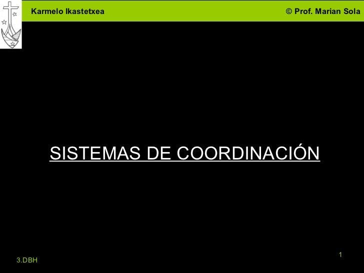SISTEMAS DE COORDINACIÓN