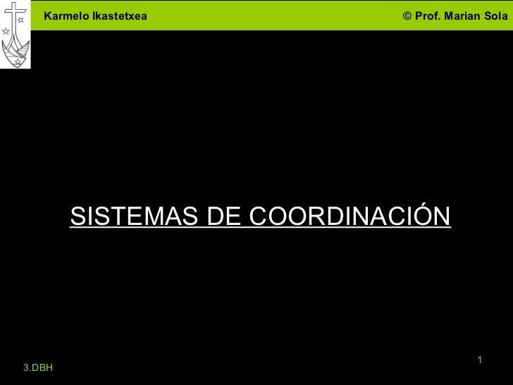 SISTEMAS DE COORDINACIÓN 3.DBH