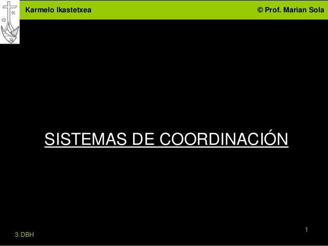 Karmelo Ikastetxea        © Prof. Marian Sola        SISTEMAS DE COORDINACIÓN                                         13.DBH