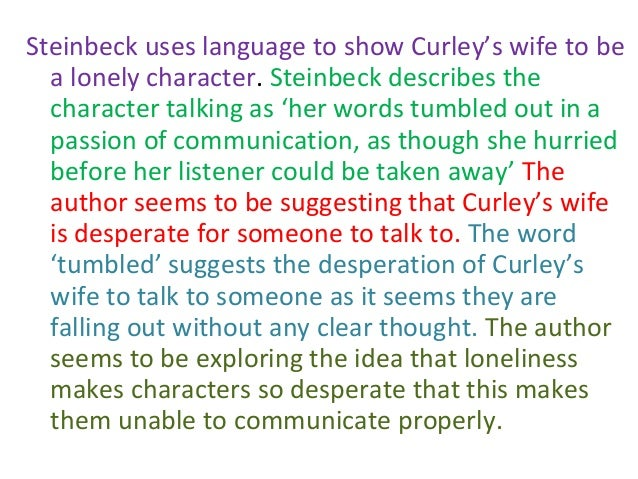 steinbeck portayal of curley s wife