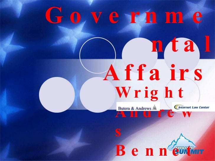 Make an Impact in Governmental Affairs   Wright Andrews  Bennet Kelley