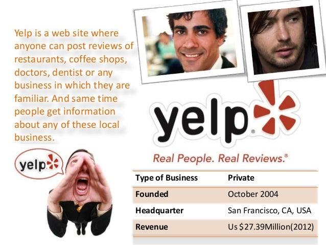 Yelp business plan