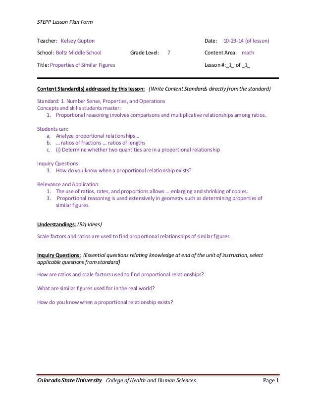 College Essay Lesson Plans