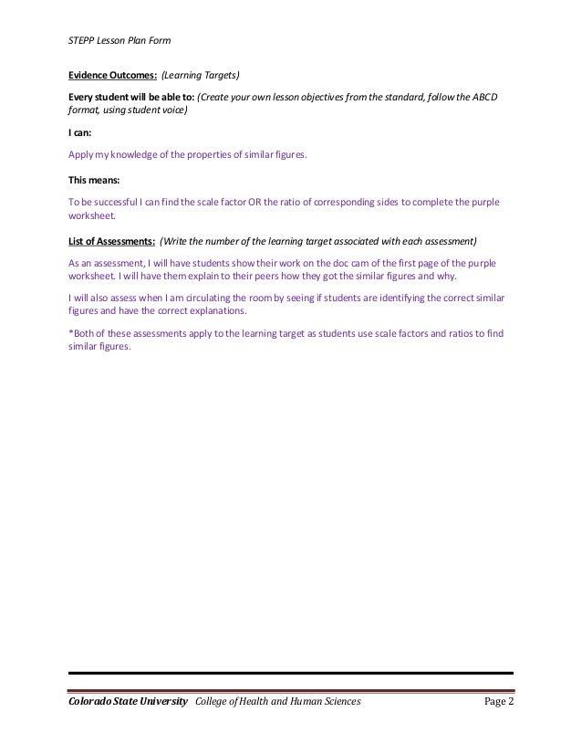 Lesson Plan for 7th Grade Math Class