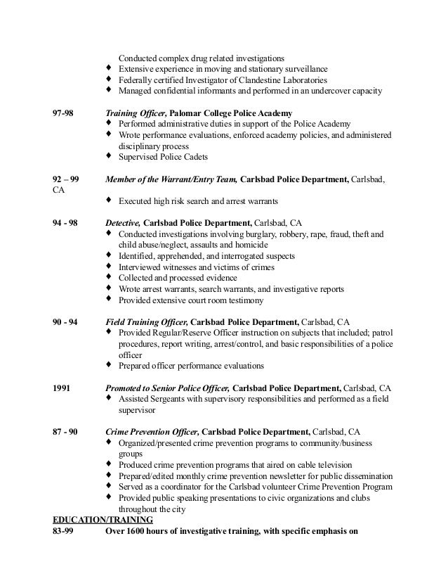 Picture Cover Letter Police Detective Resume Sample Coo Cover