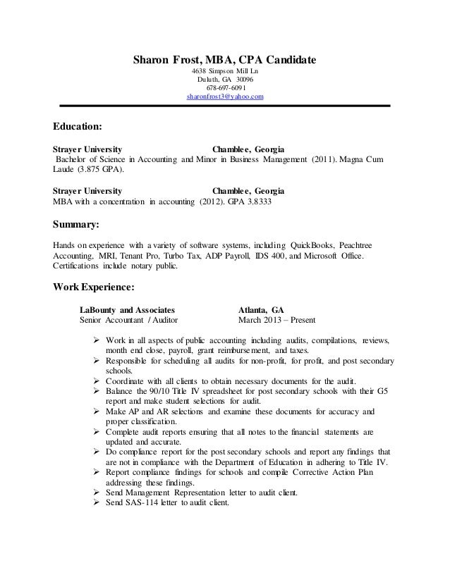 Resume for phd candid