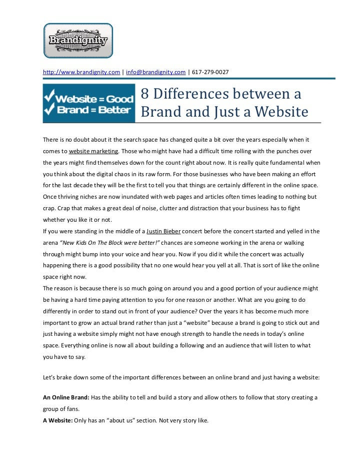 8 differences between a brand and just a website