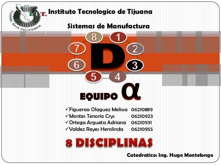 Instituto Tecnologico de Tijuana        Sistemas de Manufactura          Figueroa Olaguez Melissa   06210889      Montes...