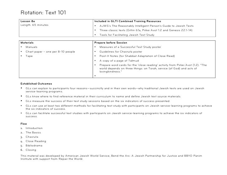 Rotation: Text 101Lesson 8e                                            Included in GLTI Combined Training ResourcesLength:...