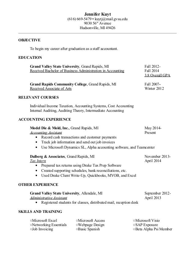 Staff Accountant Resume  KakTakTk