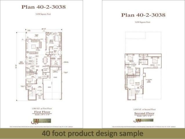 40 foot product design sample