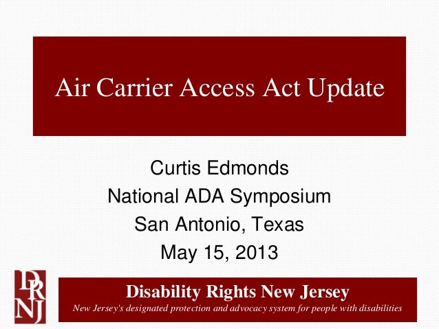 Disability Rights New JerseyNew Jerseys designated protection and advocacy system for people with disabilitiesAir Carrier ...