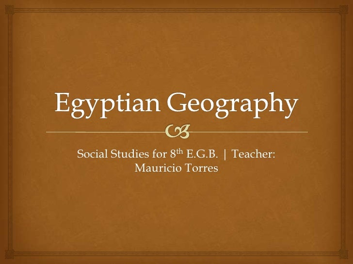 Social Studies for 8th E.G.B. | Teacher:           Mauricio Torres