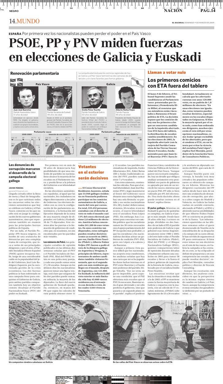Claves de la campaña electoral en Galicia y País Vasco