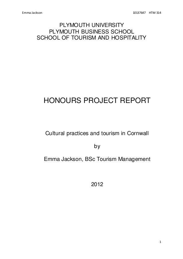 Dissertation hospitality tourism