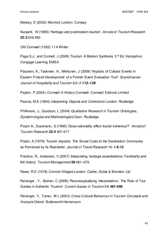Dissertation in tourism management master s degree recreation msc in international tourism management pdf fandeluxe Gallery