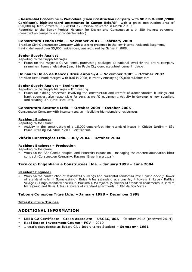 condo conversion project manager resume 28 images