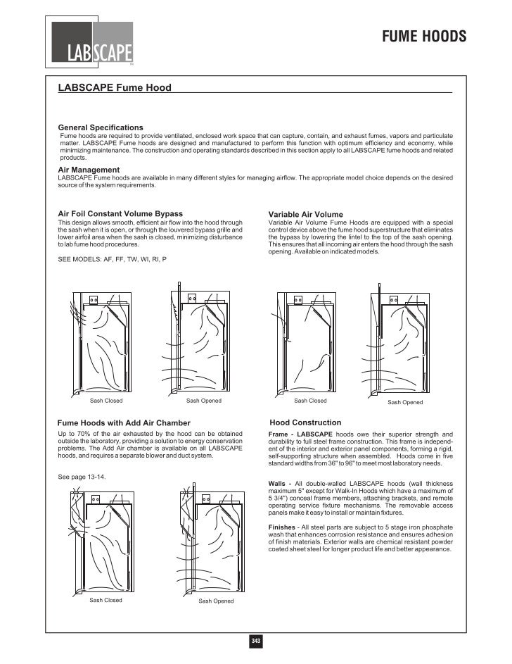 Labscape Fume Hood Catalog