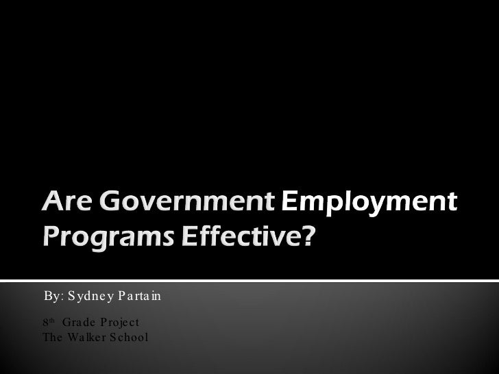 Are Government Employment Programs Effective? v4