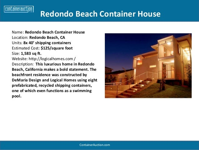 Redondo Beach Shipping Container Home