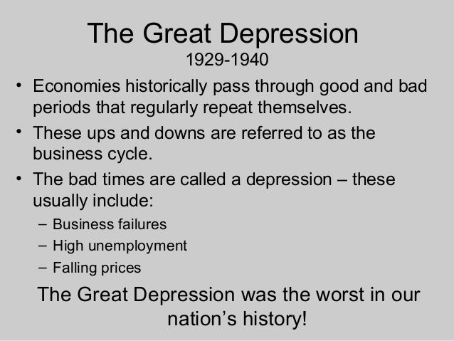 the great depression of 1929 vs The great depression of 1929  the great recession of 2008 was the worst recession since the depression the 1980 recession was almost as bad.