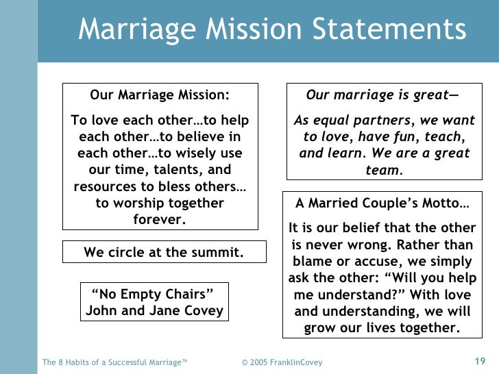 8 Habits Marriage(Overview)