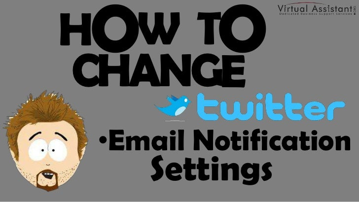 How to Change Twitter Email Notification Settings