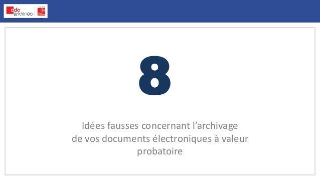 8 Idées fausses concernant l'archivage de vos documents électroniques à valeur probatoire