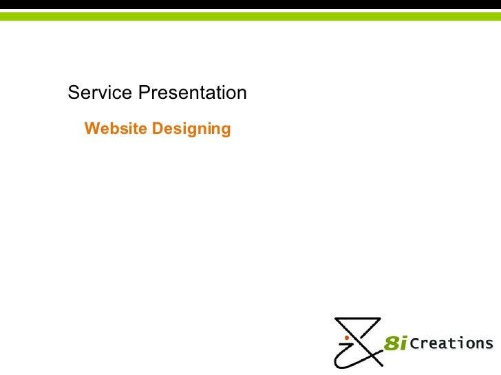 Service Presentation Website   Designing