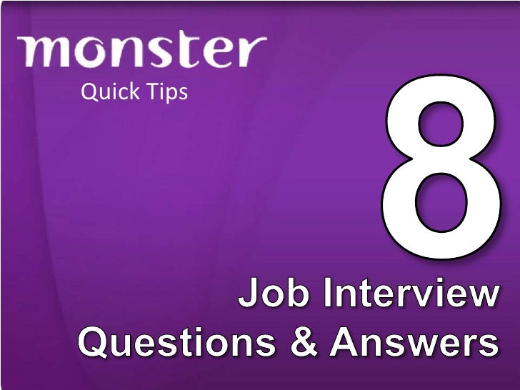 8 Job Interview Questions & Answers