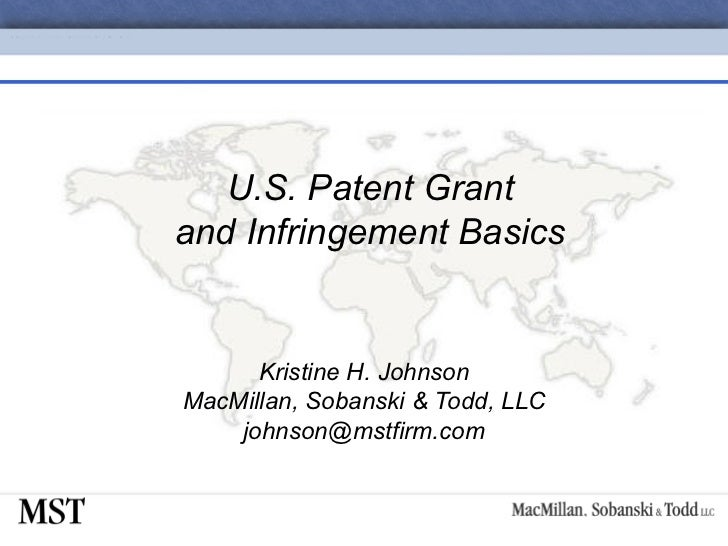 08-U.S. Patent Grant and Infringement Basics