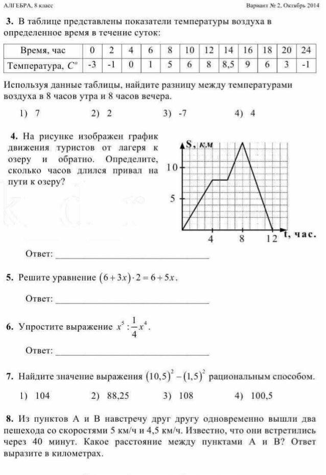 Ответы на решу егэ по математике 8 класс