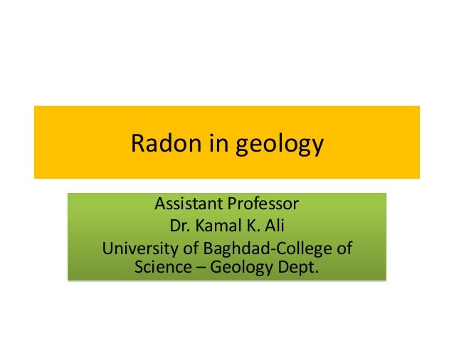lecture note   radon in geology