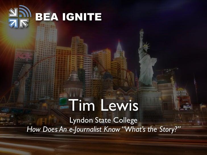 BEA Ignite: Tim Lewis