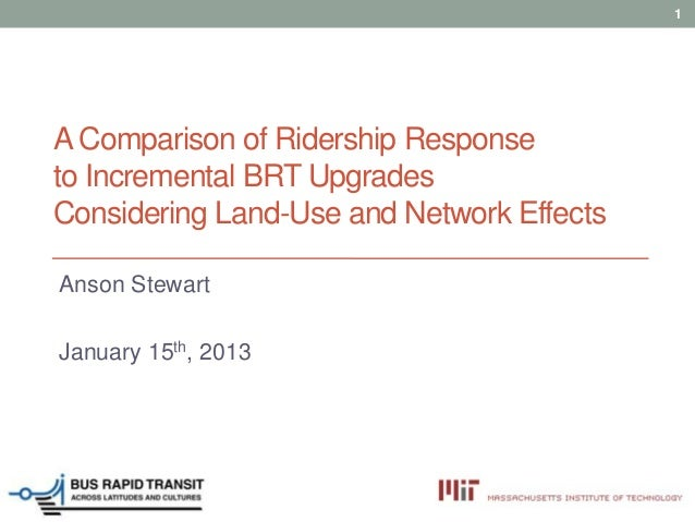 LT4: A comparison of ridership response to incremental BRT upgrades considering land use and network effects