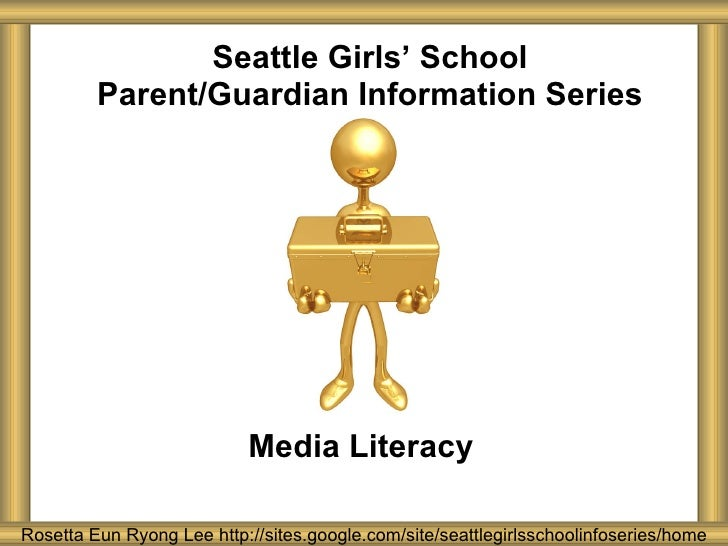 Seattle Girls' School Parent and Guardian Series: Media Literacy