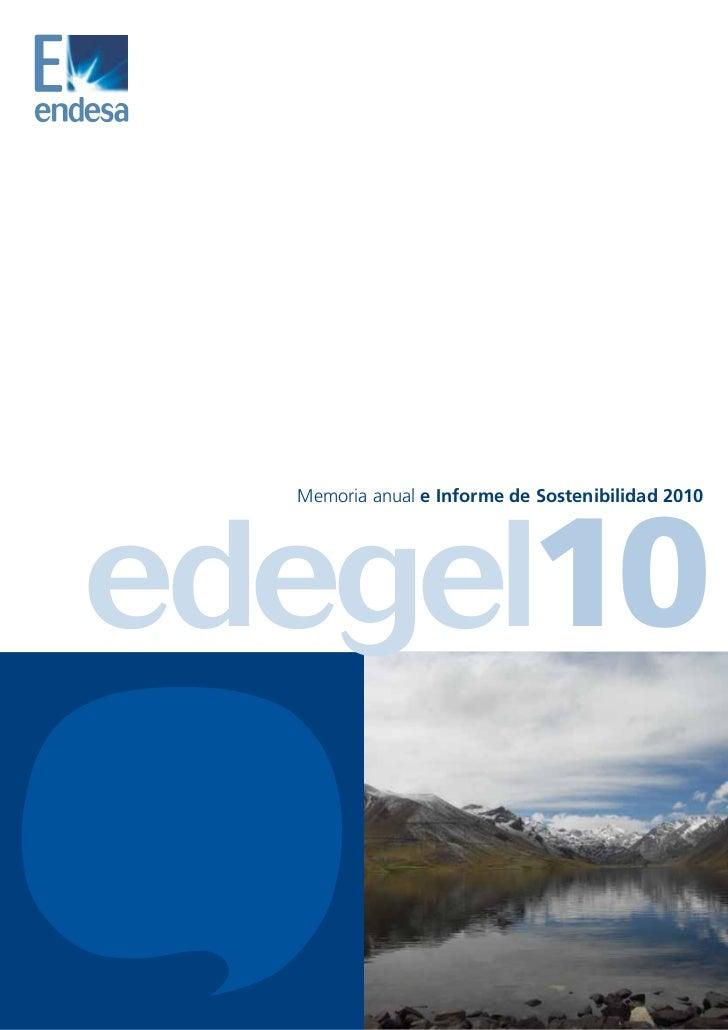 Memoria Edegel 2010