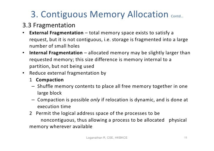 memory management strategies Main memory can take many cycles, causing a stall cache sits between main memory and cpu registers protection of memory required to ensure correct operation.