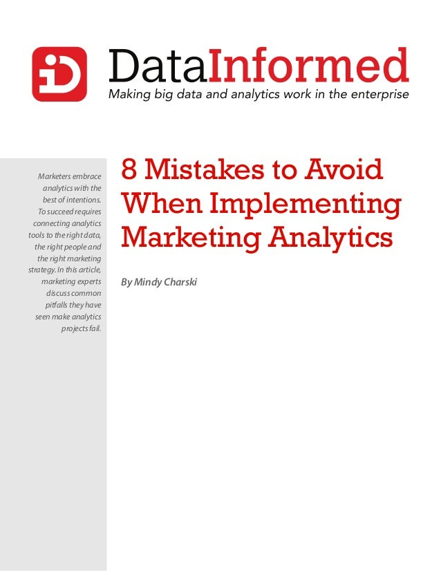 8 mistakes to avoid when implementing marketing analytics