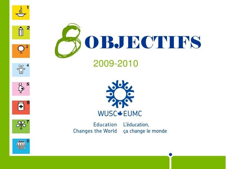 OBJECTIFS 2009-2010